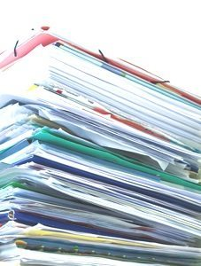 Bewerbung Brief Papier Stapel